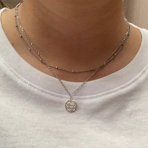 Stainless steel steel Beaded Chain Necklace